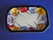 Rare Royal Doulton 'Pansies' Pin Tray D4049 c1936